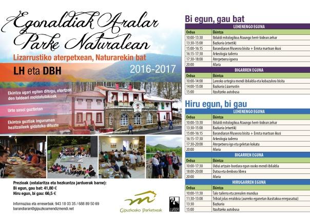 Egonaldiak Aralarren 2017-2018
